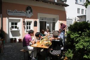 In einem Hinterhof der Fußgängerzone von Passau
