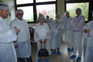 Besichtigung der Bäckerei im Hygiene-Outifit