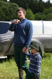 Thomas Jahn mit Sohn